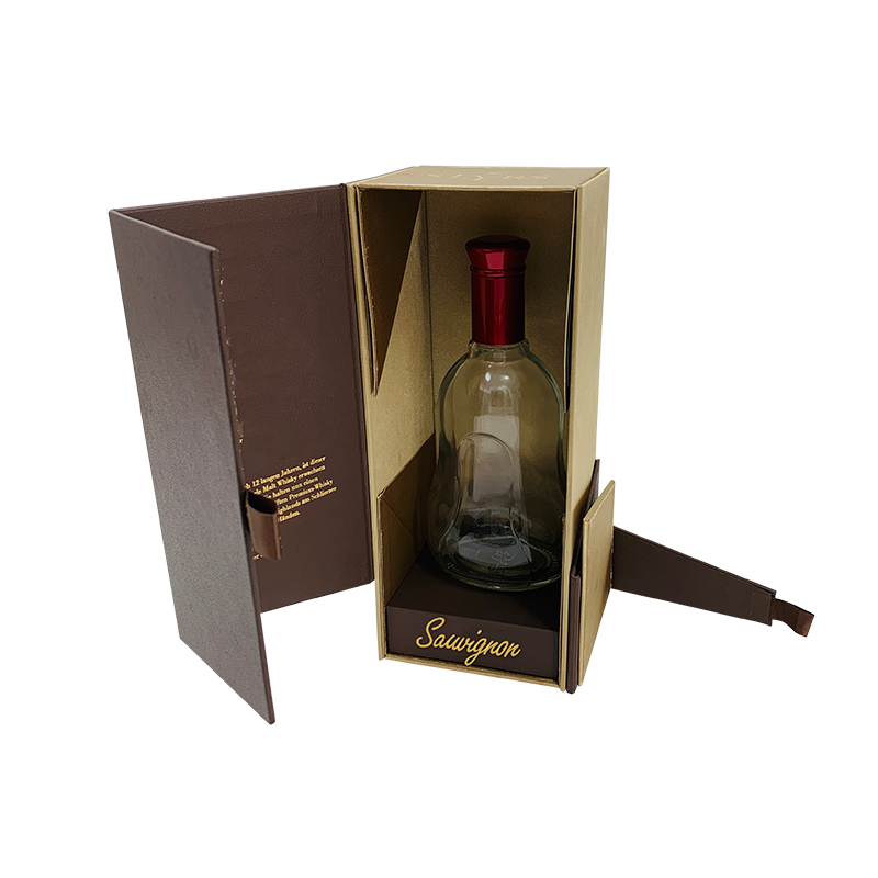 Brown Collapsible Magnetic Closure Gift Box for Whisky